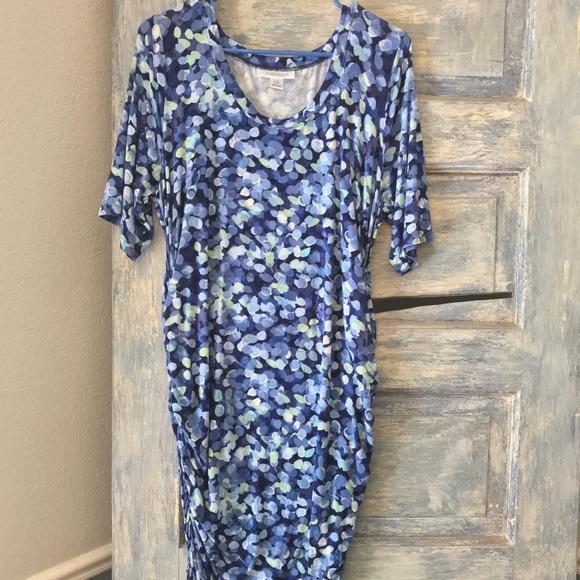 Motherhood Maternity Dresses | Blue Pattern Maternity Dress | Poshmark